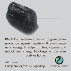 Black Tourmaline is one of the most powerful crystals for protection and elimination of negative energy. It is one of the must have crystals for everyone to have. It helps to clear, cleanse and unlock any energy blockages within your body or home... We both need this