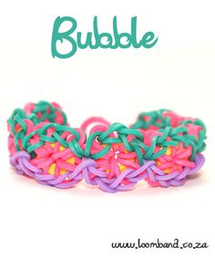 Bubble Loom Band Bracelet Tutorial, instructions and videos on hundreds of loom band designs. Shop online for all your looming supplies, delivery anywhere in SA.