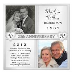 25th anniversary party invitations - 2 photos | wedding, mom and, Wedding invitations