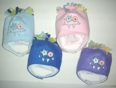 More little Monster hats for INFANTS...soooo Adorable!