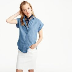 SO into this chambray top!