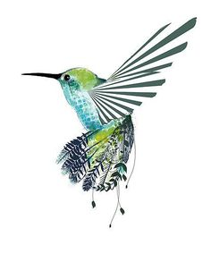 Hummingbird Tattoo like the colors of this one