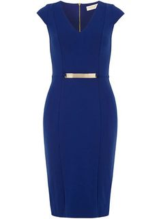 Blue gold bar pencil dress - New In Clothing  - What's New