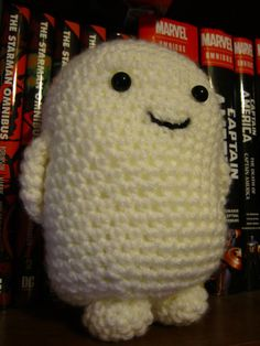 Dr. Who Adipose - CROCHET****** Christine its a critter made from peoples fat......diet pill from aliens lol......Ask me about it sometime.