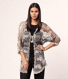 Calessa Crochet Cardigan   Dillards.com
