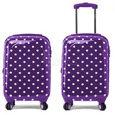 Purple Suitcases | Cute PURPLE Polka Dot Suitcase for Sale!
