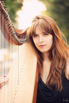 A shot of my friend Jharda who is a very talented harp played. Piano Photography, Musician Photography, Photography Office, Senior Portrait Photography, Graduation Pictures, Senior Girls, 75th Birthday, Singer, Recording Studio