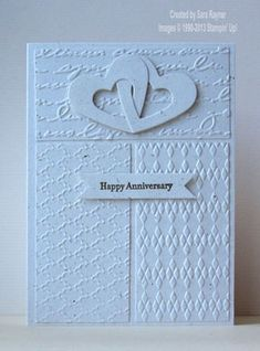 Textured wedding anniversary card - Stampin' Up!