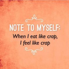 Yep, that's me I eat crap when I feel like crap! For years now I've always been quite self-conscious of what I eat, as I know once I start eating rubbish food… it just spirals out of control, espec…