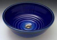 U-Style Handcrafted Porcelain Clay Undermount Sink - Indigo
