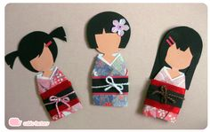 Paper Kimono Dolls by Cubic-Factory on DeviantArt Origami Girl, Origami Easy, Origami Paper, Paper Dolls, Art Dolls, Gato Origami, Asian Crafts, Paper Art, Paper Crafts