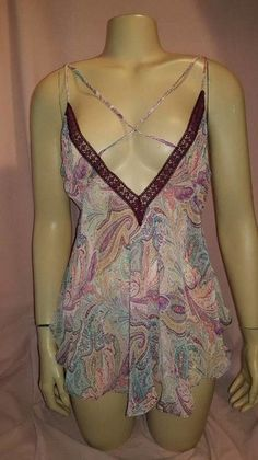Victoria's Secret Paisley Chemise Slip Sleepwear Teddy Babydoll Set M #Victoriassecret #fashion #style #chic #fashionmagenet #look #sale #sales #shop #shopping #intimates #teddy #babydoll