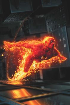 The official Marvel page for Human Torch (Johnny Storm). Learn all about Human Torch both on screen and in comics! Comic Book Characters, Comic Book Heroes, Marvel Characters, Comic Character, Comic Books Art, Book Art, Comic Movies, Character Ideas, Marvel Comics Art