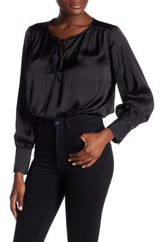 Image of Ro & De Surplice Neck Long Sleeve Bodysuit