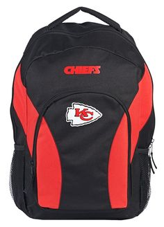 Kansas City Chiefs The Northwest Company Draft Day Backpack - Black/Red North Face Backpack, Black Backpack, Nfl Kansas City Chiefs, Day Backpacks, Nba Merchandise, National Football League, Back Strap, Back To Black, Products