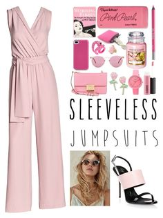 """""""Sleeveless Jumpsuits"""" by dindydind ❤ liked on Polyvore featuring Canvas by Lands' End, Giuseppe Zanotti, Michael Kors, Big Bud Press, Bodhi, MAC Cosmetics, Olympia Le-Tan, Crayo, Paper Mate and Urban Decay"""