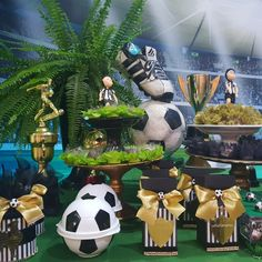 Soccer Birthday Parties, Soccer Party, Sports Party, 5th Birthday, Blue Wedding, Wedding Colors, Soccer Banquet, Ideas Para Fiestas, Party Themes