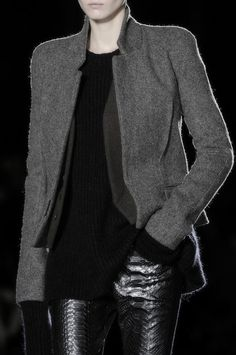 Haider Ackermann FW14 great combination of dark neutral colors and strong textures here