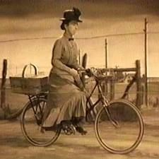 wizard of oz witch on bike ... I can still hear the music in my head to this ... She scared me the absolute most!!!