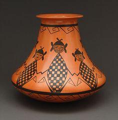 Maidens Pottery Vase by Dee Setalla (Hopi) Native American Artwork, Native American Pottery, Native American Tribes, American Indian Art, Native American Fashion, Native Americans, Southwest Art, Southwest Pottery, Southwestern Style
