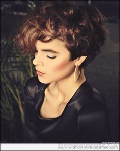 Short pixie cuts with soft curls