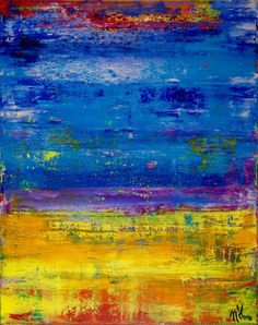 Buy Out in the blue- abstract colorfield FRAMED + SIGNED, Acrylic painting by Nestor Toro on Artfinder. Discover thousands of other original paintings, prints, sculptures and photography from independent artists. Happy Paintings, Paintings For Sale, Original Paintings, Original Art, Abstract Shapes, Blue Abstract, Abstract Landscape, Abstract Art For Sale, Colour Field