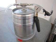 A compact tap system for a mini-keg. I'm stealing this idea to get standard mini-kegs in my Krupps Beertender. Craft Beer Shop, All Grain Brewing, Keg Tap, Home Brewing Equipment, Homemade Liquor, Home Brewing Beer, Beer Taps, Beer Recipes, How To Make Beer