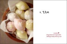 baking101 ::   송편 모음 , 꽃송편 , korean rice cake(thanksgiving day), flower rice cake    korean food , http://blog.daum.net/aspoonful