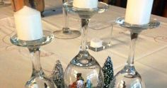 You will love these Christmas Wine Glass Candle Holders and we have included all the best ideas for you to try. Christmas Crafts For Gifts, Perfect Christmas Gifts, Simple Christmas, Christmas Tree Ornaments, Christmas Ideas, Christmas Wine, Christmas 2017, Christmas Table Centerpieces, Christmas Table Settings