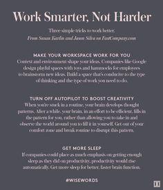 Work Smarter, Not Harder Life Skills, Life Lessons, Motivation, Productivity Hacks, Work Life Balance, Career Advice, Career Planning, Career Development, Human Resources