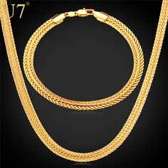 Gold Necklace Set Stamp Wholesale 2015 New Trendy Gold Plated cm Wide Necklace Bracelet Party Men's Jewelry Sets Mens Gold Jewelry, Black Hills Gold Jewelry, Mens Silver Rings, Thick Gold Chain, Gold Chains For Men, Beaded Choker Necklace, Necklace Set, Gold Earrings, Gold Necklaces