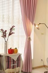 Pink curtains discount