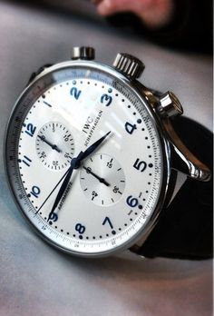 IWC. Love the blue numbers.