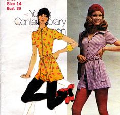 1970s Vintage pattern Wide collar tunic by allthepreciousthings, $12.00
