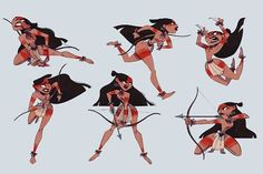 character female navite tribal arch & bow
