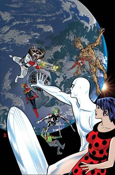 Silver Surfer #4 by Mike Allred *