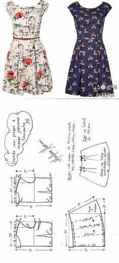 Dress. Patterns...♥ Deniz ♥