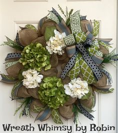 Hey, I found this really awesome Etsy listing at https://www.etsy.com/listing/268263590/burlap-mesh-all-season-hydrangea-wreath