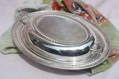 Vintage Silverplate Covered Serving Dish by seacoastvintage, $14.85