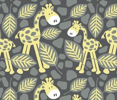 frolic in the leaves / Dk fabric by paragonstudios on Spoonflower - custom fabric