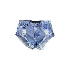 One Teaspoon Bandits Shorts (Kansas) Denim hot pants acid wash (285 BRL) ❤ liked on Polyvore featuring shorts, bottoms, pants, short, mini shorts, acid wash shorts, acid wash denim shorts, hot denim shorts and denim hot pants