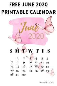 June 2020 Free Printable Calendar June Calendar Printable, Calendar June, Free Printable Calendar, Print Calendar, Printable Planner, Free Printables, Free Planner, Fitness Planner, Planner Inserts