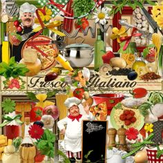 If you love Italian food then you will love this scrapbook kit from Raspberry Road Designs.