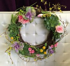Spring Wreath - Shirley's Flowers & Gifts, Inc., in Rogers, Ark.-NEW