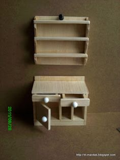 el mundo de las manualidades y la artesanía: tutorial paso a paso, mesa de trabajo con estantes