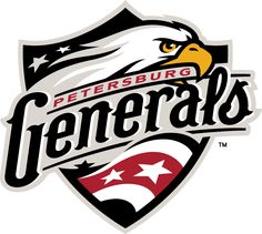 Petersburg Generals Primary Logo on Chris Creamer's Sports Logos Page - SportsLogos. A virtual museum of sports logos, uniforms and historical items. Business Branding, Logo Branding, Sports Graphic Design, Sports Baseball, Graphic Design Inspiration, As You Like, Typography, Sports Logos, Educational Toys