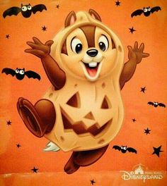 "Disney's Halloween ""Chip! Disney Halloween, Fete Halloween, Halloween Cartoons, Halloween Drawings, Halloween Pictures, Walt Disney, Disney Love, Images Disney, Disney Pictures"