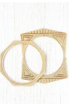 Engraved Geo Bracelets