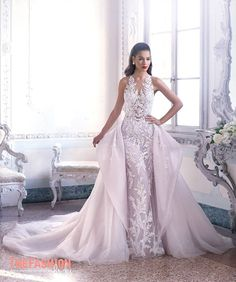 6d7745919 Overskirt | The FashionBrides Fit And Flare Wedding Dress, Sexy Wedding  Dresses, Princess Wedding