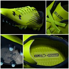 1bfd1bbe9 Under Armour Blur CBN IV FG High Vis Yellow Metallic Navy Cleats